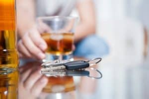 Car keys on the table while drinking alcohol / if you drink alcohol don