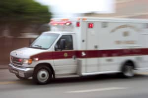 ambulance paramedic on highway