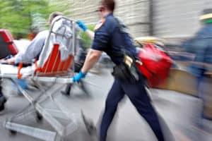 injured in a motor vehicle accident rescue paramedics