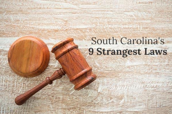"A gavel sits on a wood desk beside the words ""South Carolina"